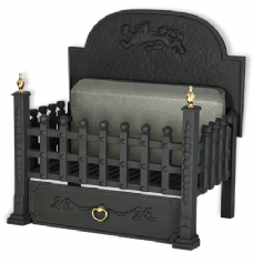 "Swaledale with Back Plate 21"" Cast Iron Fire Basket"